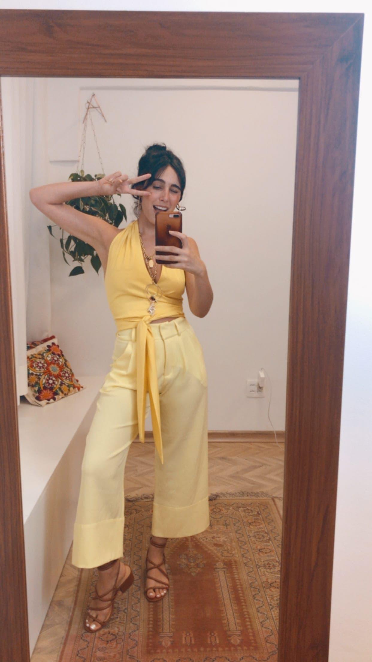 Blusa Olivia - Amarela