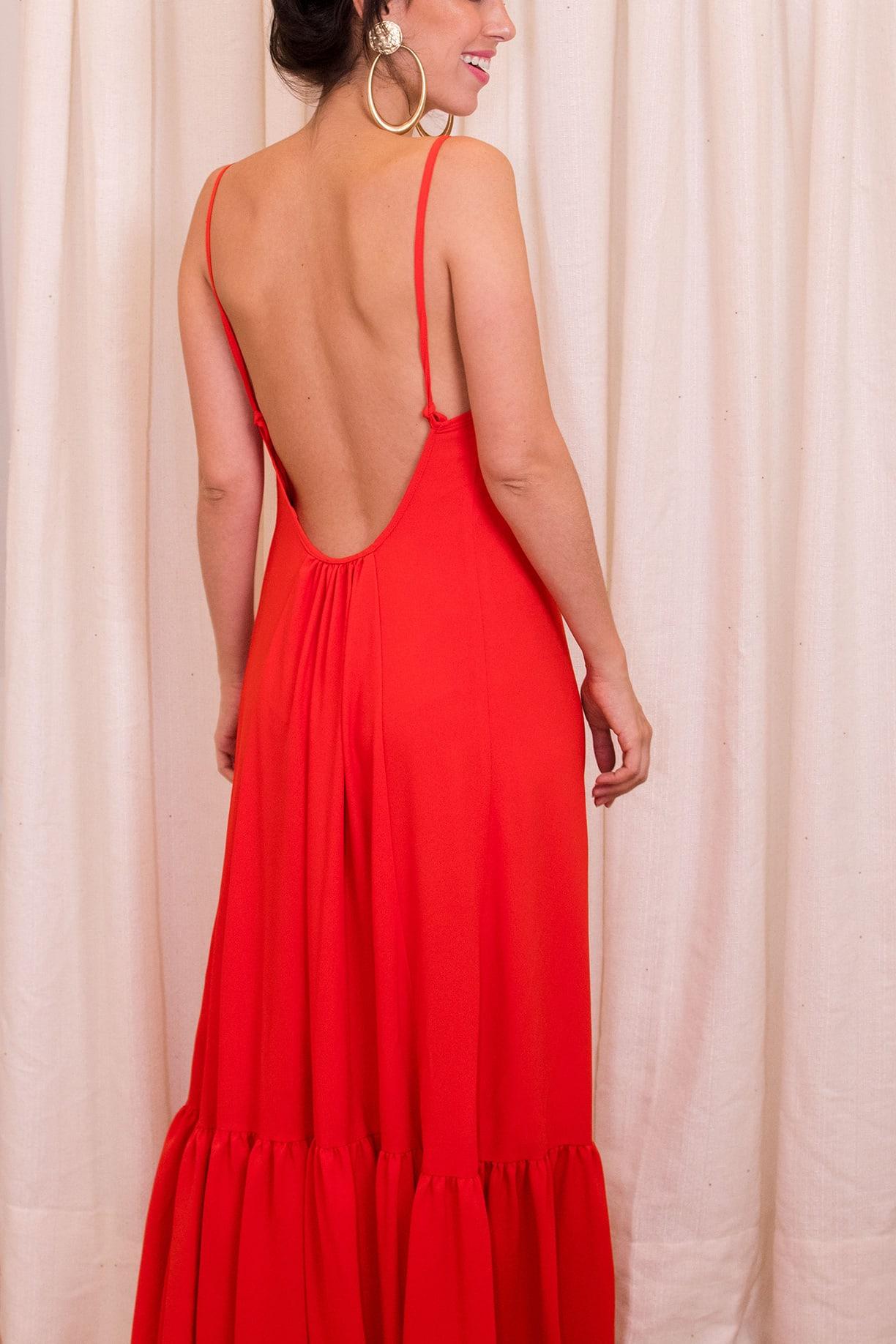 Vestido Joana - Laranja