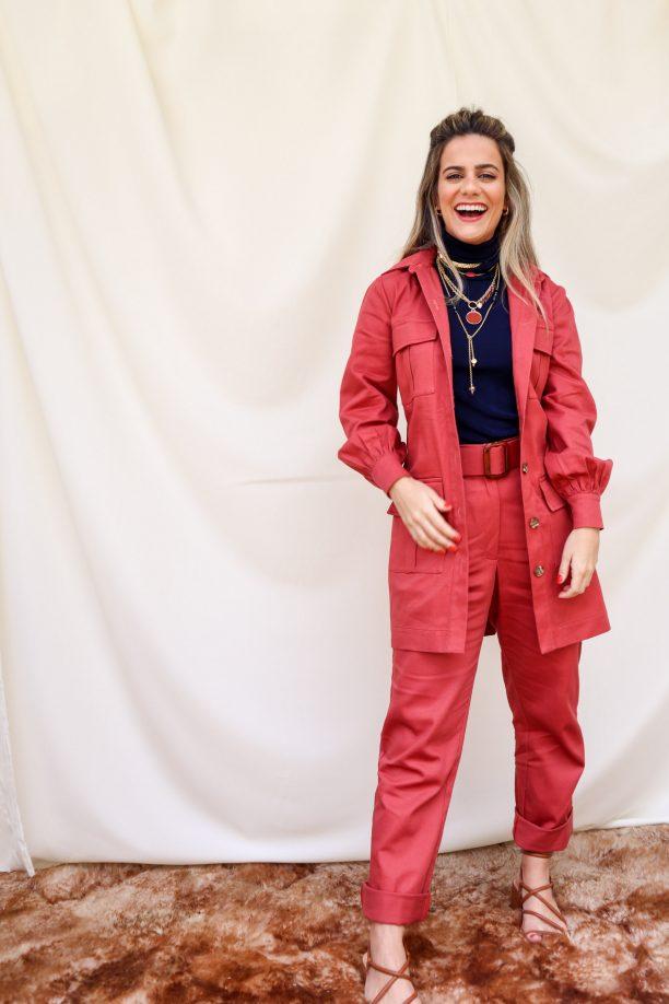 trench coat rosa seco